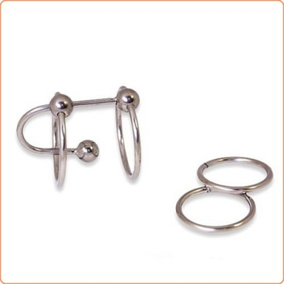 Wholesale Double Ring Balled Penis Plug