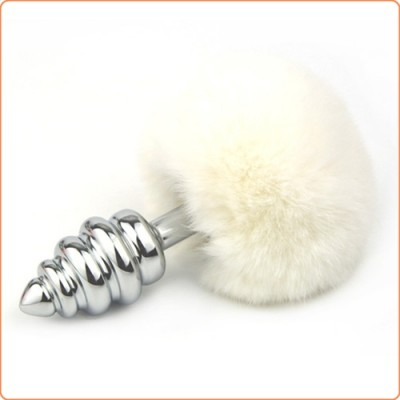 Wholesale Ball Tail Screw Thread Anal Plug