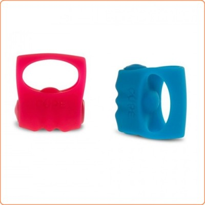 Wholesale Cupe Silicone Vibration Finger Ring