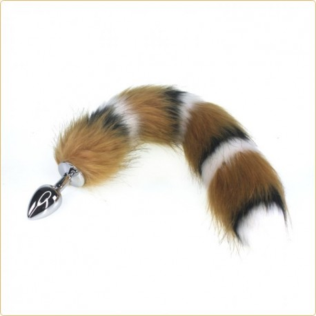Wholesale Interphase Fox Tail Metal Butt Plug