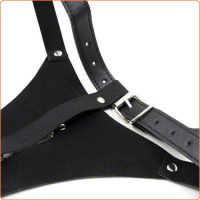 Wholesale Open Front Leather Thong with Chain