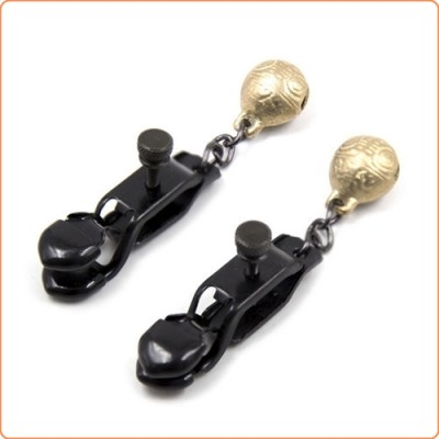 Wholesale Unisex Alligator Nipple Clamps With Bell