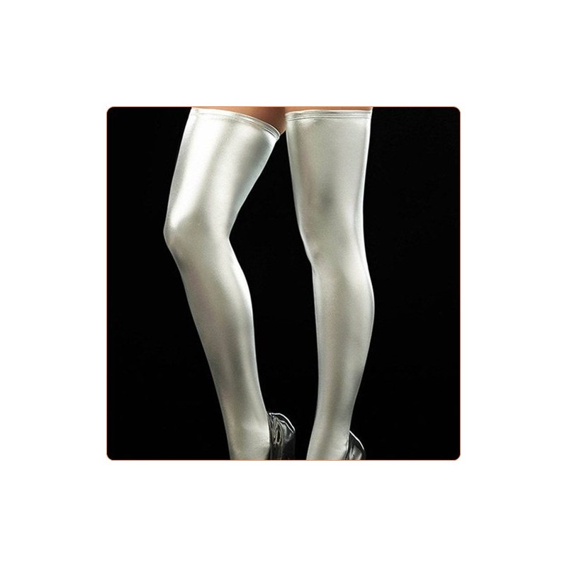 Wholesale Hot Selling Faux Leather Thigh Highs Stockings