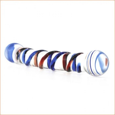 Wholesale Colorful Enchanting Double Ended Glass Dildo