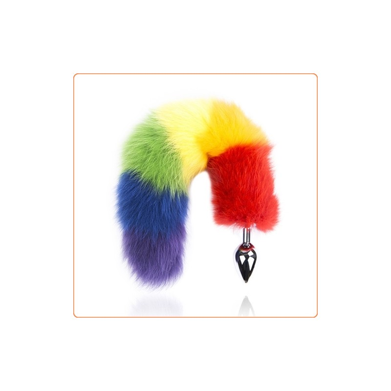 Wholesale Colorful Fox Tail Steel Butt Plug
