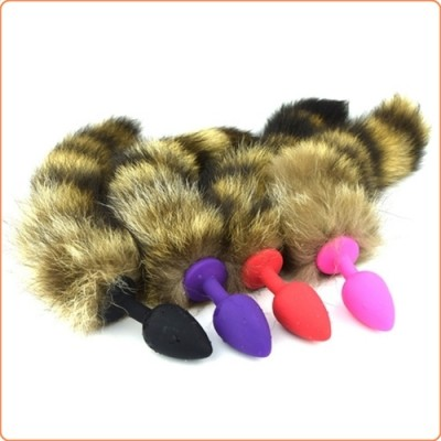 Wholesale Geisha Ball Silicone Butt Plug With Fox Tail