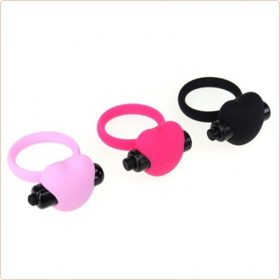 Wholesale Heart Silicone Vibration Cock Ring