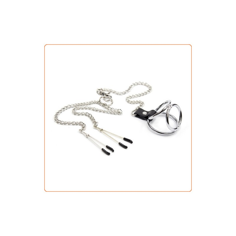 Wholesale Adjustable Nipple Clamps With Cock Ring