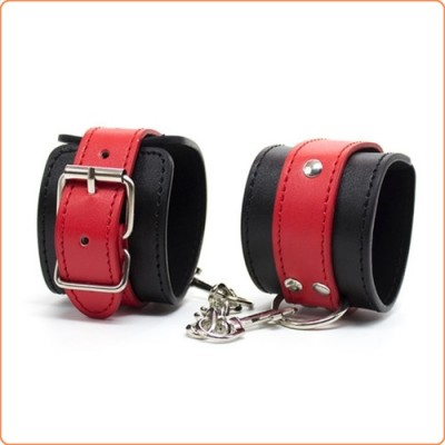 Wholesale Black & Red Locking Cuffs
