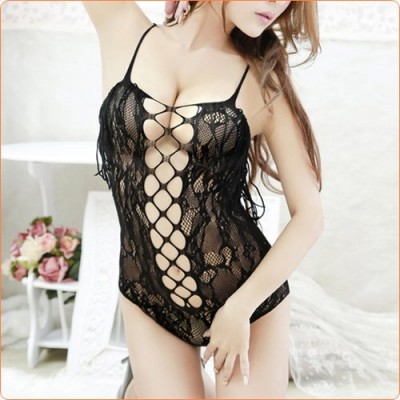 Wholesale Fashion Hollow Out Tassel See-through Teddy Sexy Lingerie