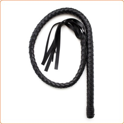 Wholesale Full Black PVC Bondage Whip