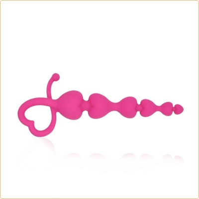 Wholesale Pink Anal Beads Heart Handle