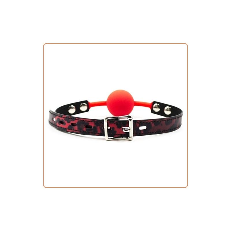 Wholesale The Silicone Comfort Locking Ball Gag With Pattern Strap
