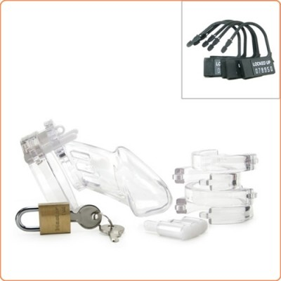 Wholesale CB 6000 Male Chastity Device Clear