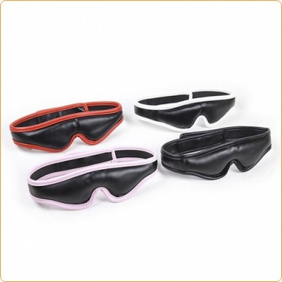 Wholesale Leather Blindfold with Velcro Closure