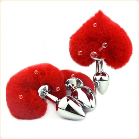 Wholesale Heart Tail Stainless steel Butt Plug