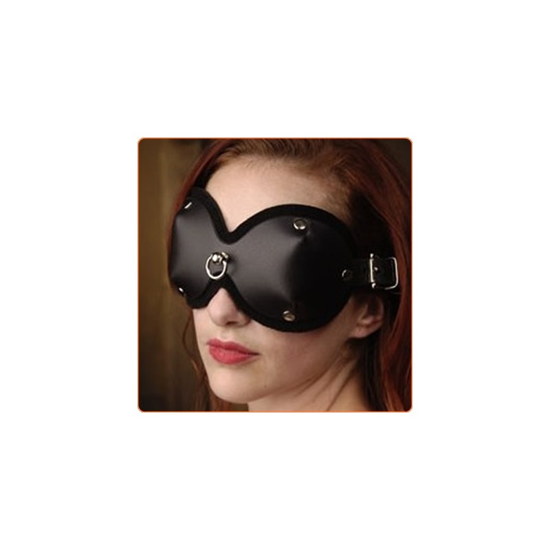 Wholesale Leather Blindfold with D-Ring