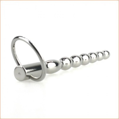 """Wholesale Steel Power Tools Penis Plug with Glans Ring - 5.1\"""""""