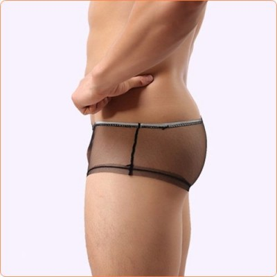 Wholesale Ultrathin Transparent Mesh Hot Men Hipster