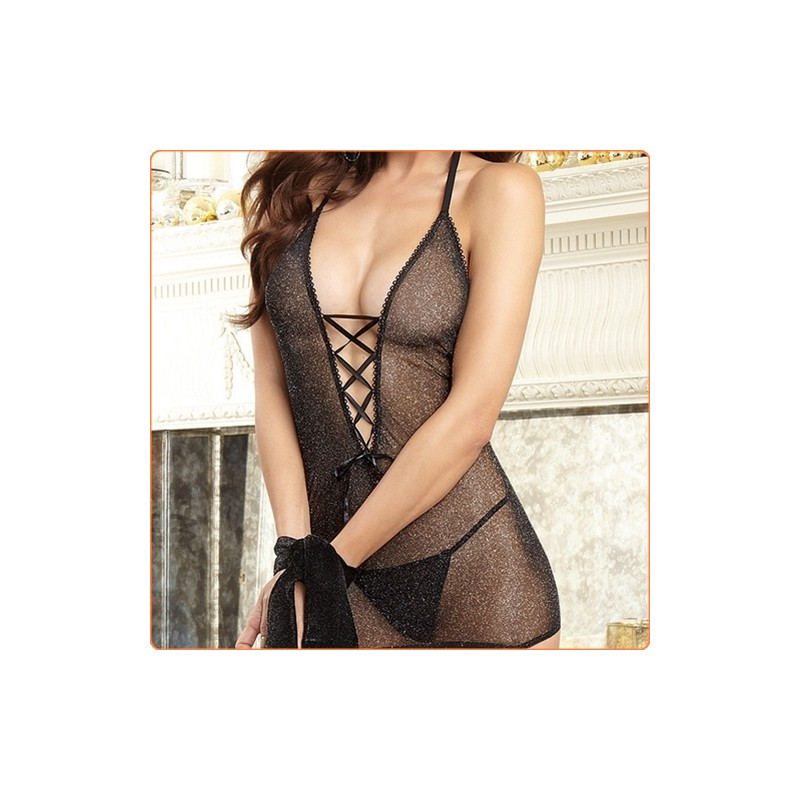 Wholesale Extreme Sexy Halter See-through Hollow Out Uniform