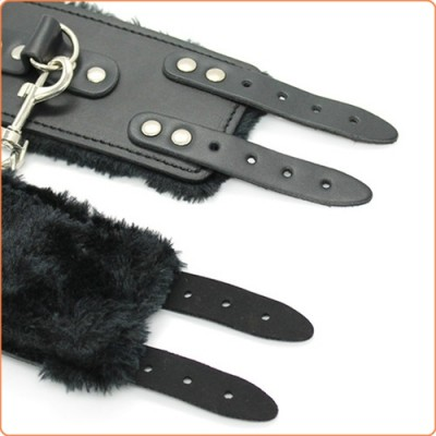 Wholesale Double Buckle Fur Lined Cuffs