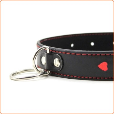 Wholesale Red Heart O Ring Collar