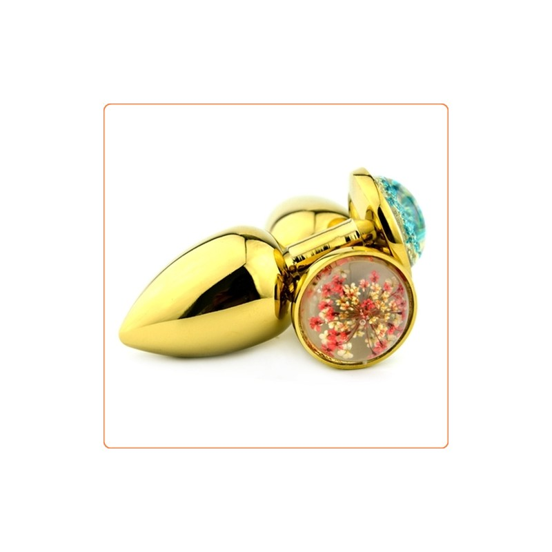 Wholesale Starry Sky Golden Stainless Steel Butt Plug