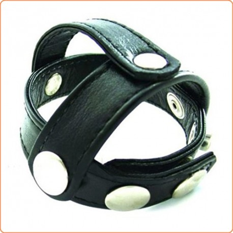 Wholesale Strict Leather Snap-On Cock and Ball Harness