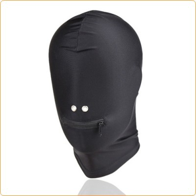 Wholesale Fetish Fantasy Spandex Zipper Mouth Hood