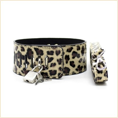 Wholesale Leopard Lockable Neck Collar