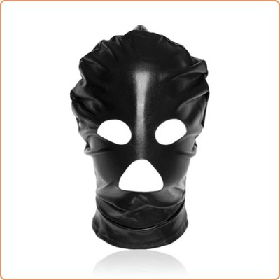 Wholesale Patent Leather Hood with Open Mouth and Eyes