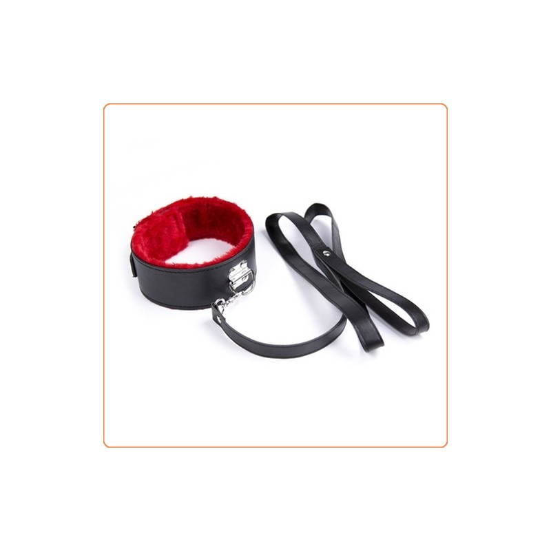 Wholesale Red Fur Lined Locking Collar