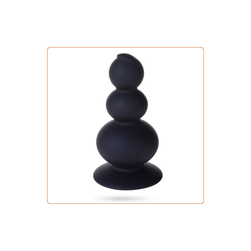 Wholesale Suction 3 Silicone  Ball Anal Beads(Black Only)