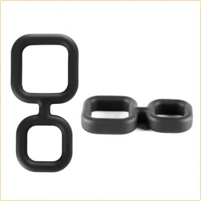 Wholesale X-MEN Liquid Silicone Double Ring Cock Ring