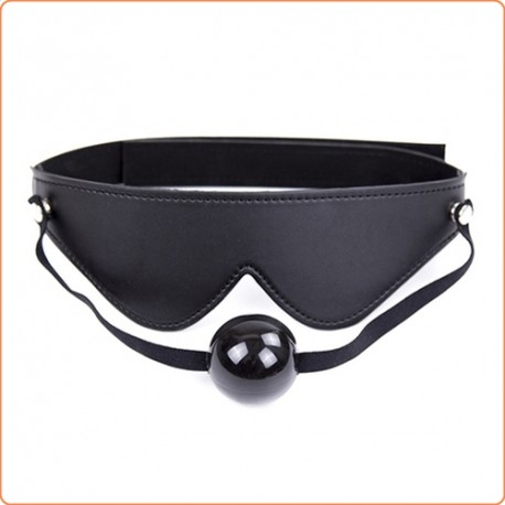 Wholesale Blindfold With Ball Gag  - Velcro Strap