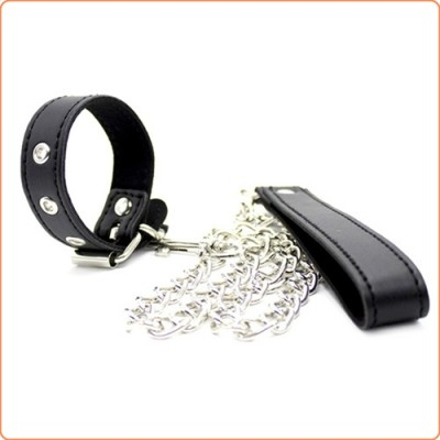 Wholesale Buckling Cock Ring And Chain Leash Set