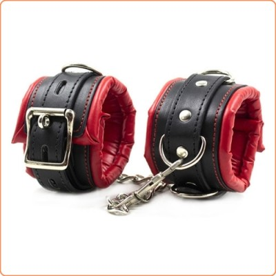 Wholesale Deluxe Lockable Leather Wrist / Ankle Cuffs