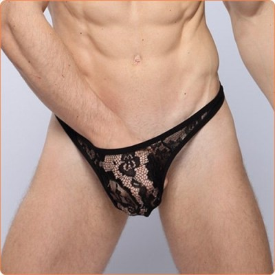 Wholesale Easeful Transparent Lace Thong G-string