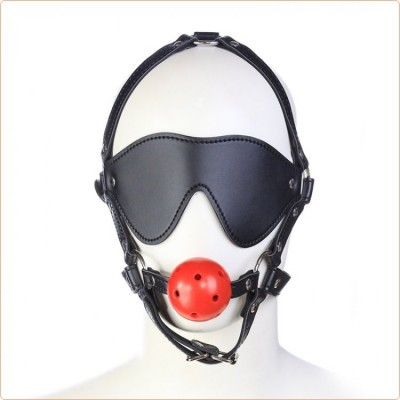 Wholesale Harness Ball Gag With Blinder
