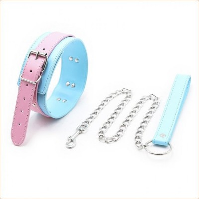 Wholesale Blue & Pink Collars with Lead