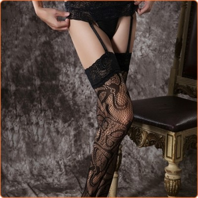 Wholesale Hot Novelty Patterned Garter Belt Stockings