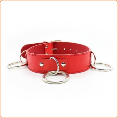 Wholesale Three O Ring Collar With Chain