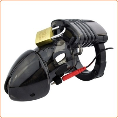 Wholesale Electro Lockdown Estim Male Chastity Cage - Black