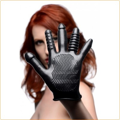 Wholesale Pleasure Poker Textured Vibration Glove