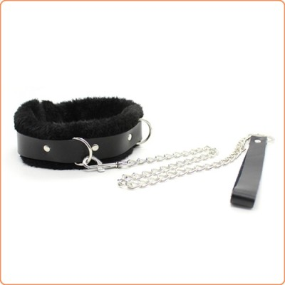 Wholesale Fur Lined Bondage Slave Collar