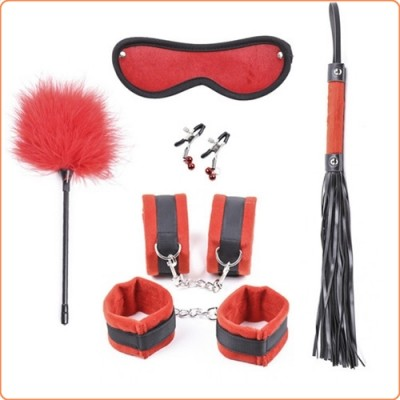 Wholesale Plush Bondage Kit - 5 Piece