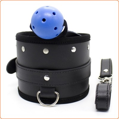 Wholesale Breatheable Ball Gag With Neck Collar