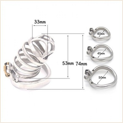 Wholesale Rhombic Bend Ring Male Chastity Cock Cage