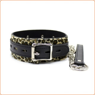 Wholesale Leopard Bondage Collar