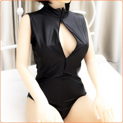 Wholesale Patent Leather Zipper Fetish Clothing